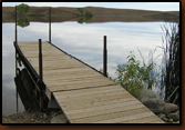 The installed Dock at Waggoner Lake.