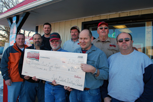 The Sioux Empire Chapter of SDWU presented a $9000.00 check to the Chamberlain City Council for the fishing pier that will be installed in American Creek between the boat dock and highway 50.