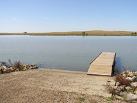 Boat Ramp with repaired Dock at Curlew Dam.
