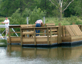 Beautiful new fishing dock for those with special needs.