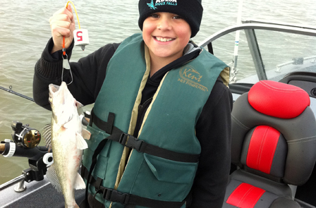 Youth fishing as part of SD Walleyes