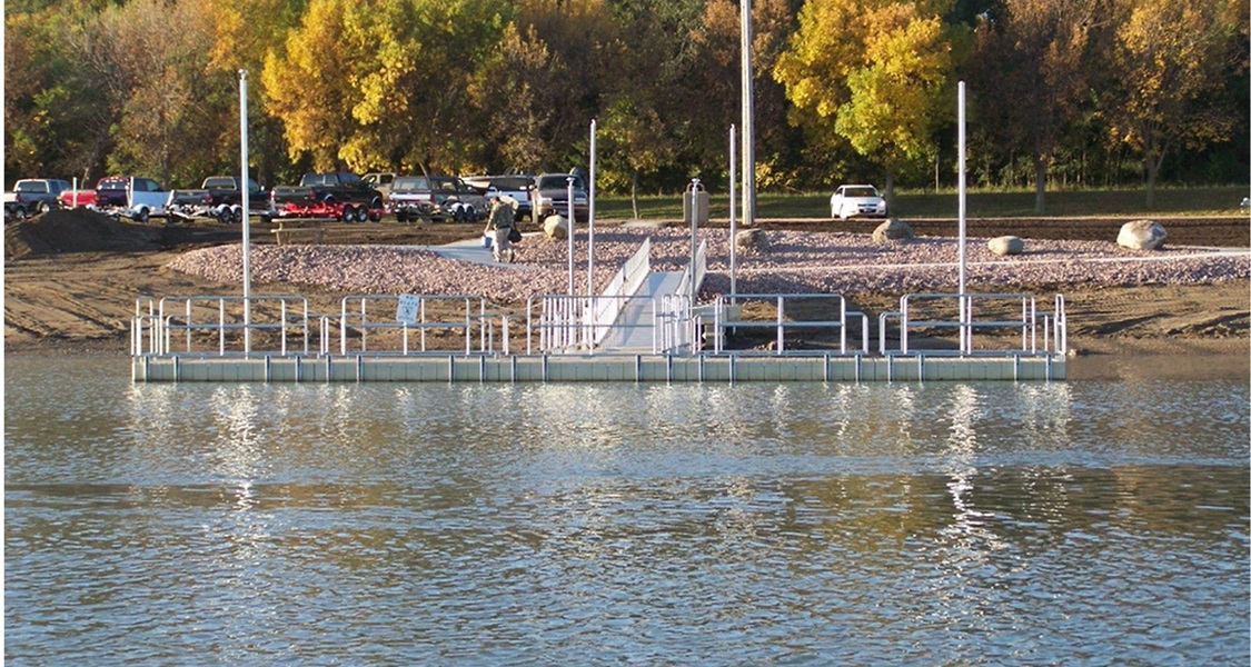 Handicap Accessible Fishing dock at Chamberlain