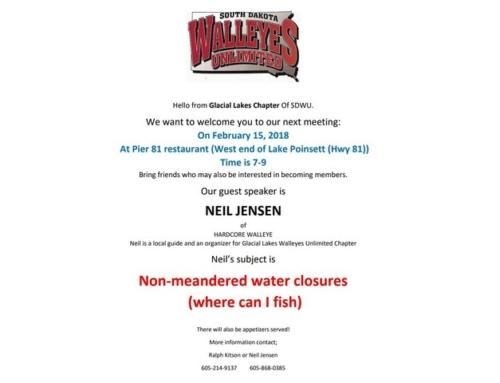 Neil Jensen Feb 18th 2018 at Pier 81 Restaurant Lake Poinsett