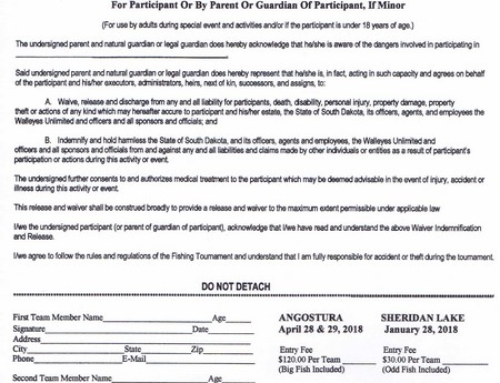 RC Chapter Angostura Classic Tournament application