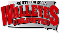 South Dakota Walleyes Unlimited Sticky Logo
