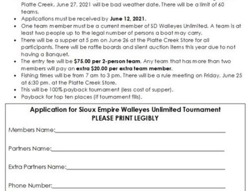 2021 Platte Creek Tournament with raffles/auction