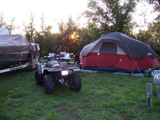 Camping at a beautiful SD Game Fish and Park